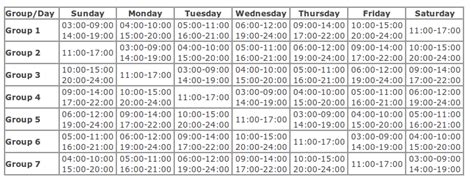 new schedule of load shedding new load shedding schedule of nepal august 2012