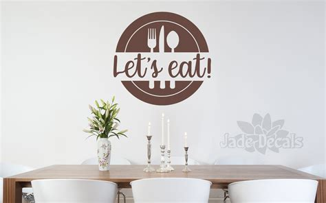 The boards are quite versatile in style, which is a bonus as well. Let's Eat Wall Decal, Let's Eat Decal, Farmhouse Kitchen wall Decor, Kitchen Wall Art, Let's Eat ...