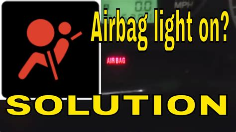 airbag light stays on cost to reset airbag light iron
