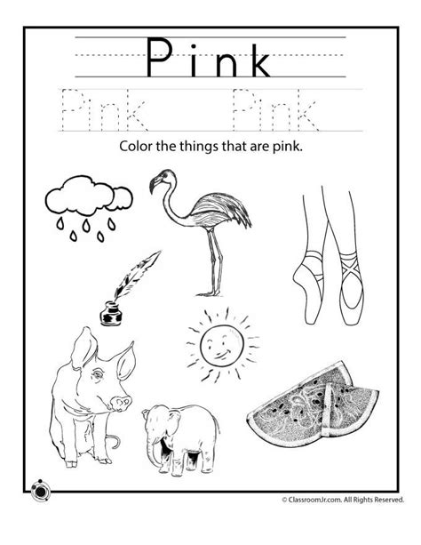 learning colors worksheets for preschoolers my classroom