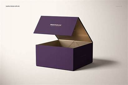 Box Gift Mockup Magnetic Template Luxury Psd
