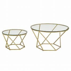 walker edison furniture company geometric glass nesting With gold geometric coffee table
