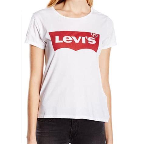 lewis t shirt damen levis t shirt femme classic blanc achat vente t shirt cdiscount
