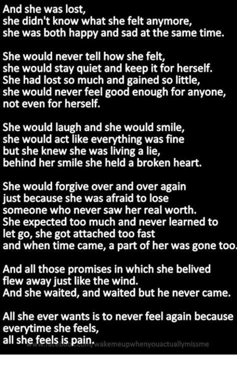 And She Was Lost She Didn T Know What She Felt Anymore She