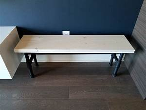 Industrial, Bench, How, To, Build, A, Wooden, Bench, With, Pipe, Legs