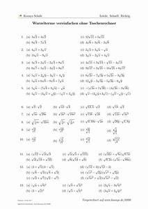 Auflagerkräfte Berechnen Aufgaben Mit Lösungen : aufgaben wurzelterme vereinfachen ohne taschenrechner mit ~ Themetempest.com Abrechnung