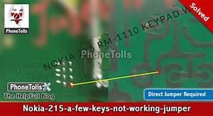 Nokia-215 Few Keys Not Working Jumper