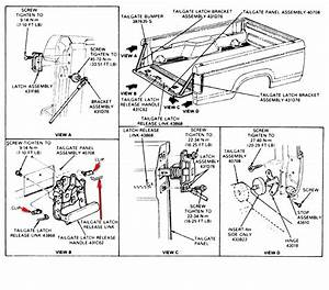 2007 Ford Ranger Tailgate Parts Diagram