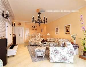 couleurs chaudes style pastoral salon 3d model download With d co salon couleur chaude