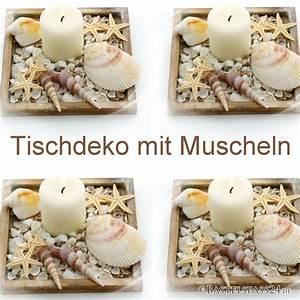 Basteln Mit Muscheln : tischdeko sommer mit muscheln schnecken und seesterne in holzschale ~ Frokenaadalensverden.com Haus und Dekorationen
