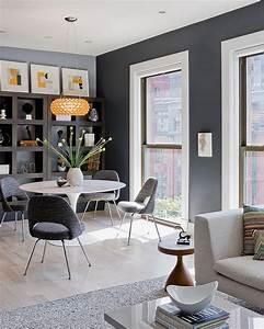Wohnzimmer Bild Grau : wandfarbe grau kombinieren 55 deko ideen und tipps ~ Michelbontemps.com Haus und Dekorationen