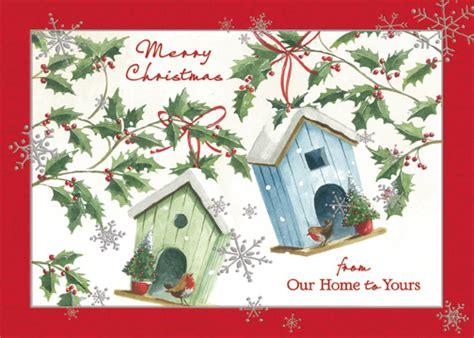 bird houses  home   box   christmas cards