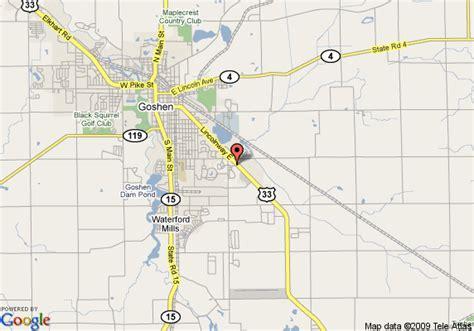 map  holiday inn express goshen goshen