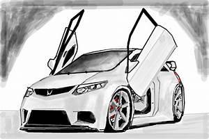 Honda Civic Si - Desenho De Victor2292