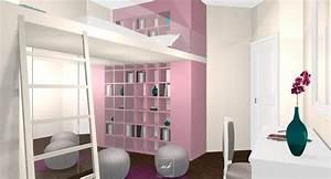 Chambre De Jeune Fille : d co chambre de jeune fille ~ Preciouscoupons.com Idées de Décoration