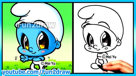 Smurf + Funny Extra Drawing
