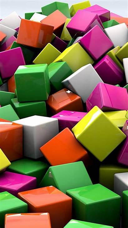 Cubes Multicolor Abstract Mobile