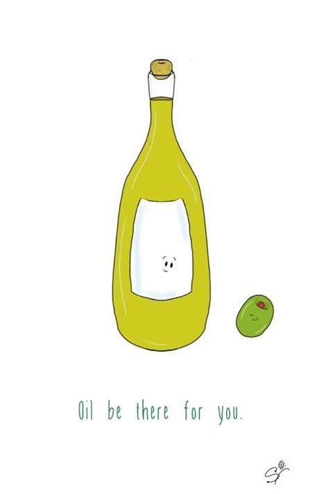 olive oil  taste buds pun illustration keiras