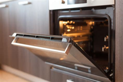 empty open electric oven  hot air ventilation