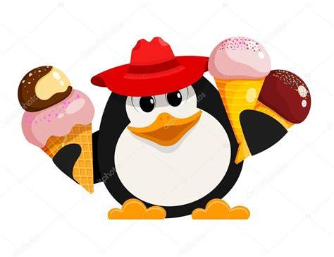 Pingüino Con Helado. Imagen