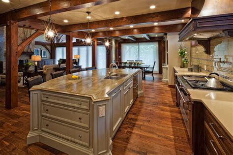 Copper Kitchen Backsplash Ideas - luxury timber frame traditional kitchen vancouver by tdswansburg design studio