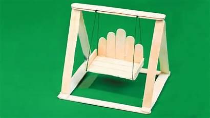 Popsicle Stick Crafts Diy Swing Miniature Jhula