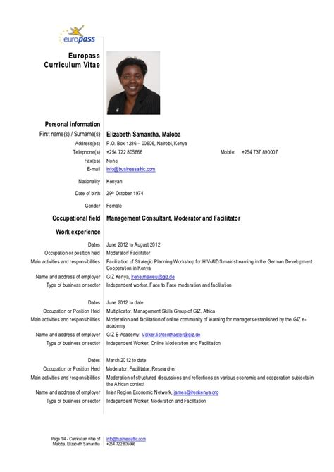 Resume Driving Licence by Cv Elizabeth Maloba