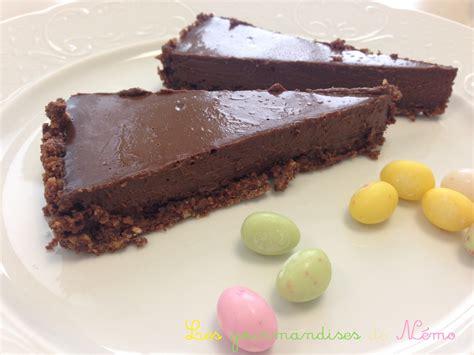 tarte au chocolat croustillante sans cuisson les