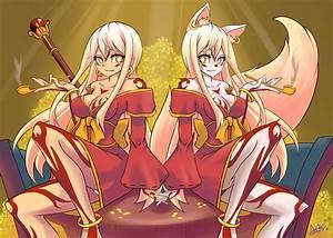 COMMISSION 2 Kitsune by AzureBladeXIII on DeviantArt