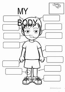 Body Parts Fill In The Blanks Worksheet