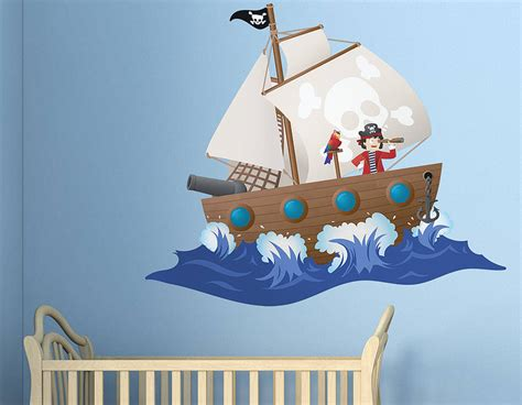 childrens pirate ship wall sticker contemporary wall