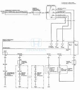 Honda Accord  Circuit Diagram - Ignition Switch