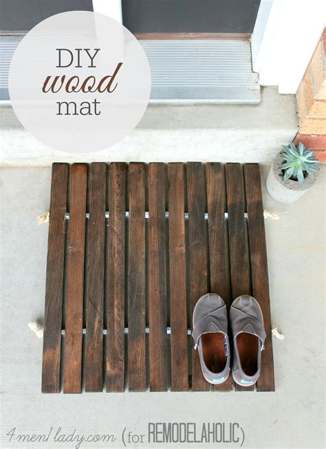 diy wooden door mat decor hacks