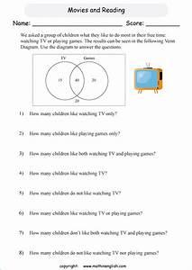 Grade 6 Math Venn Diagram Worksheet  Analyze The Diagram