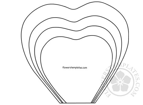 Paper Flower Template Paper Printable Template Flowers Templates