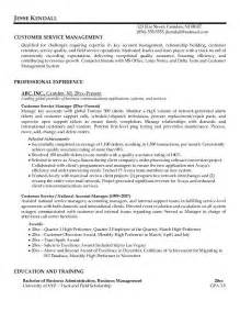Career Objective Exles For Customer Service Manager by Customer Service Resume Resume Cv