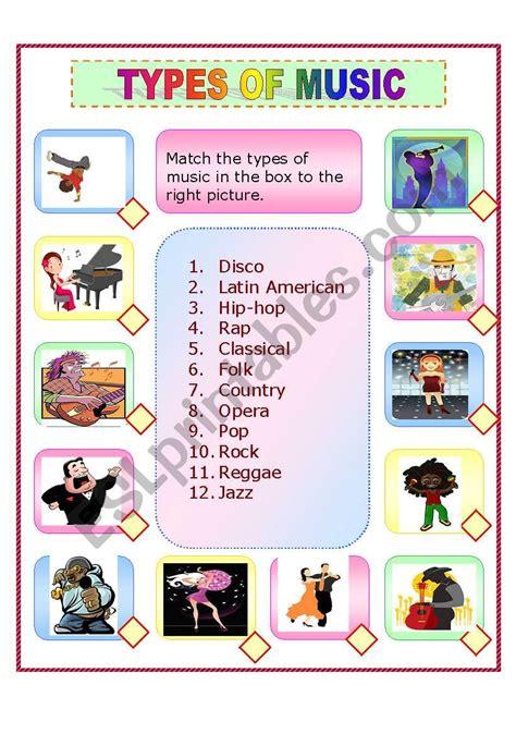 english worksheets types