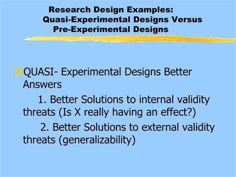 experimental design exles generalizability in research exle