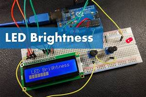 Arduino - Display The Led Brightness On A Lcd 16x2