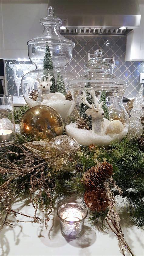 apothecary jars  christmas decorating christmas