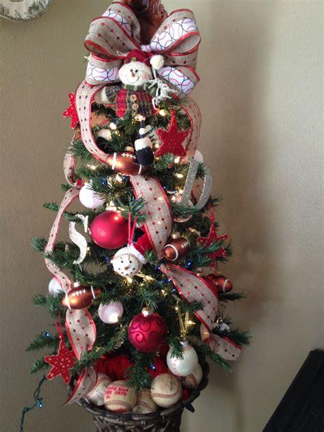 sports theme christmas tree christmas trees and holiday stuff