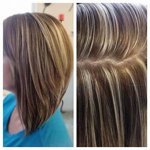 High contrast hair color, highlights and lowlights ...