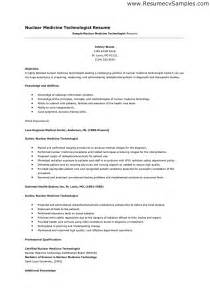 Med Technician Resume by Technologist Resume Berathen