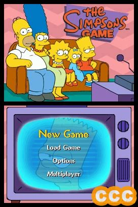 simpsons game review   nintendo ds nds