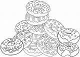Donat Kue Makanan Tecido Yeast Lard Disukai Coloringpagesfortoddlers Nums Coloringfolder Malvorlagen sketch template
