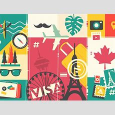 Travel And Vacation Background By Anton Fritsler (kit8) For Kit8 On Dribbble
