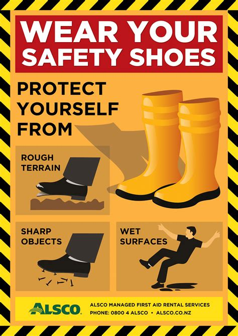 alsco nz training safety posters wear safety shoes apng