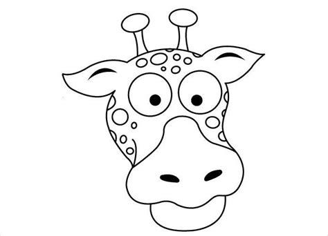 giraffe head drawing  getdrawings