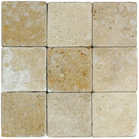 tumbled noce travertine tile noce classic tumbled travertine mosaic tiles 4x4 stone tile us