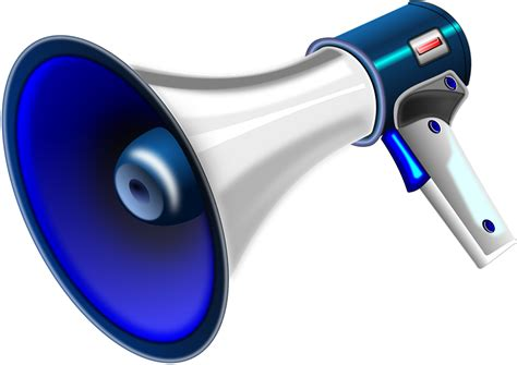 Megaphone Loudhailer Speaker 183 Free Vector Graphic On Pixabay Handheld Electric Megaphone Clipart Clipground